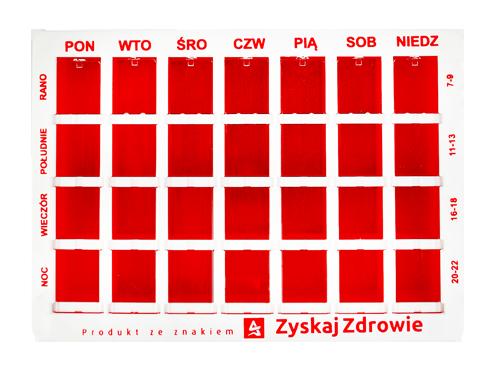 Kasetka do dawkowania leków tygodniowa