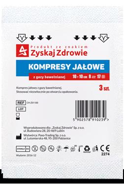 Kompresy gazowe jałowe 10x10cm