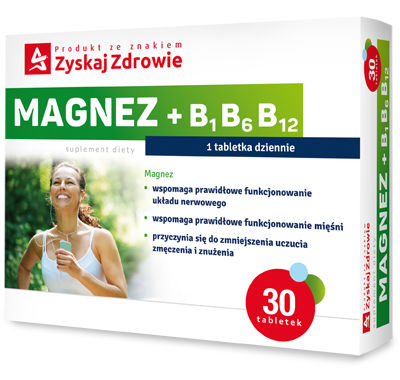 Magnez + B1 B6 B12