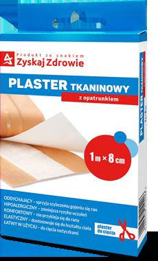 Plaster tkaninowy z opatrunkiem 1 m x 8 cm