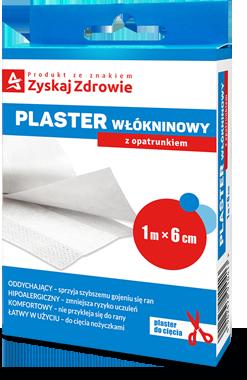 Plaster włókninowy z opatrunkiem 1 m x 6 cm