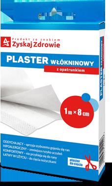 Plaster włókninowy z opatrunkiem 1 m x 8 cm