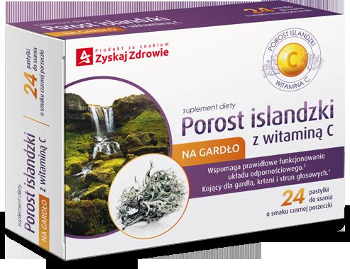 Porost islandzki z witaminą C