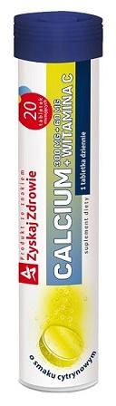 Calcium 300 mg + witamina C 60 mg cytrynowe